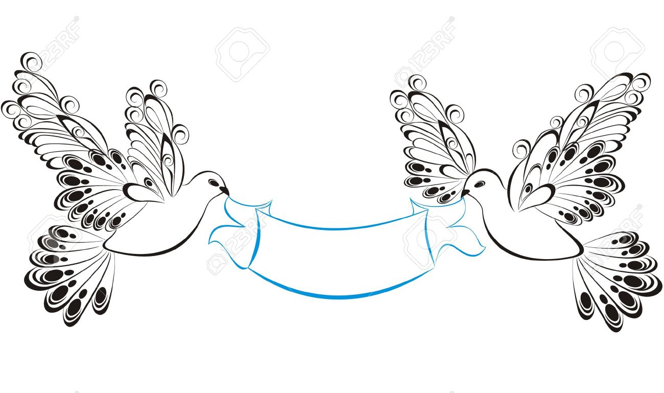 Christmas dove ribbon clipart vector stock Ribbons With Birds Royalty Free Cliparts, Vectors, And Stock ... vector stock