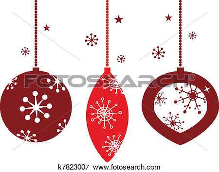 Christmas elegant clip art banner royalty free library Clip Art of Elegant christmas balls decoration in retro style ... banner royalty free library