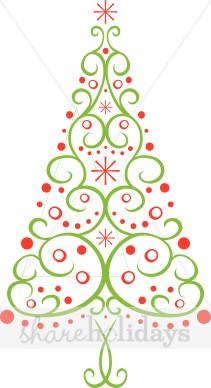 Christmas elegant clip art vector freeuse stock Elegant christmas tree clipart - ClipartFest vector freeuse stock