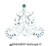 Christmas elegant clip art jpg royalty free stock Clip Art Vector - Graphic elegant christmas tree. Stock EPS ... jpg royalty free stock