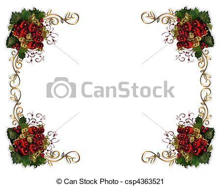 Christmas elegant clip art png black and white download Clipart of Christmas border elegant - Image and illustration ... png black and white download