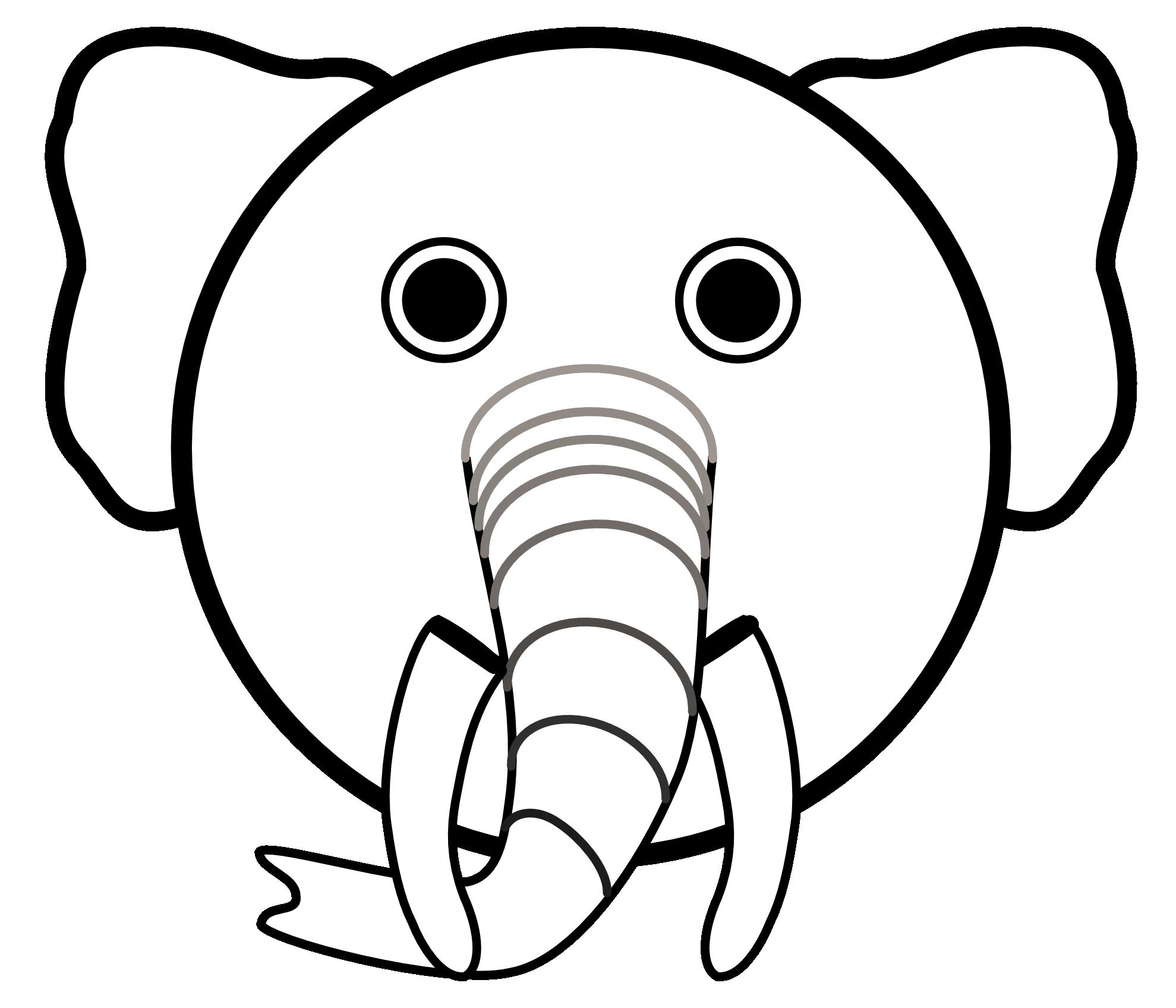 Christmas elephant clipart clipart free library Cute Elephant Clipart Black And White | Clipart Panda - Free Clipart ... clipart free library