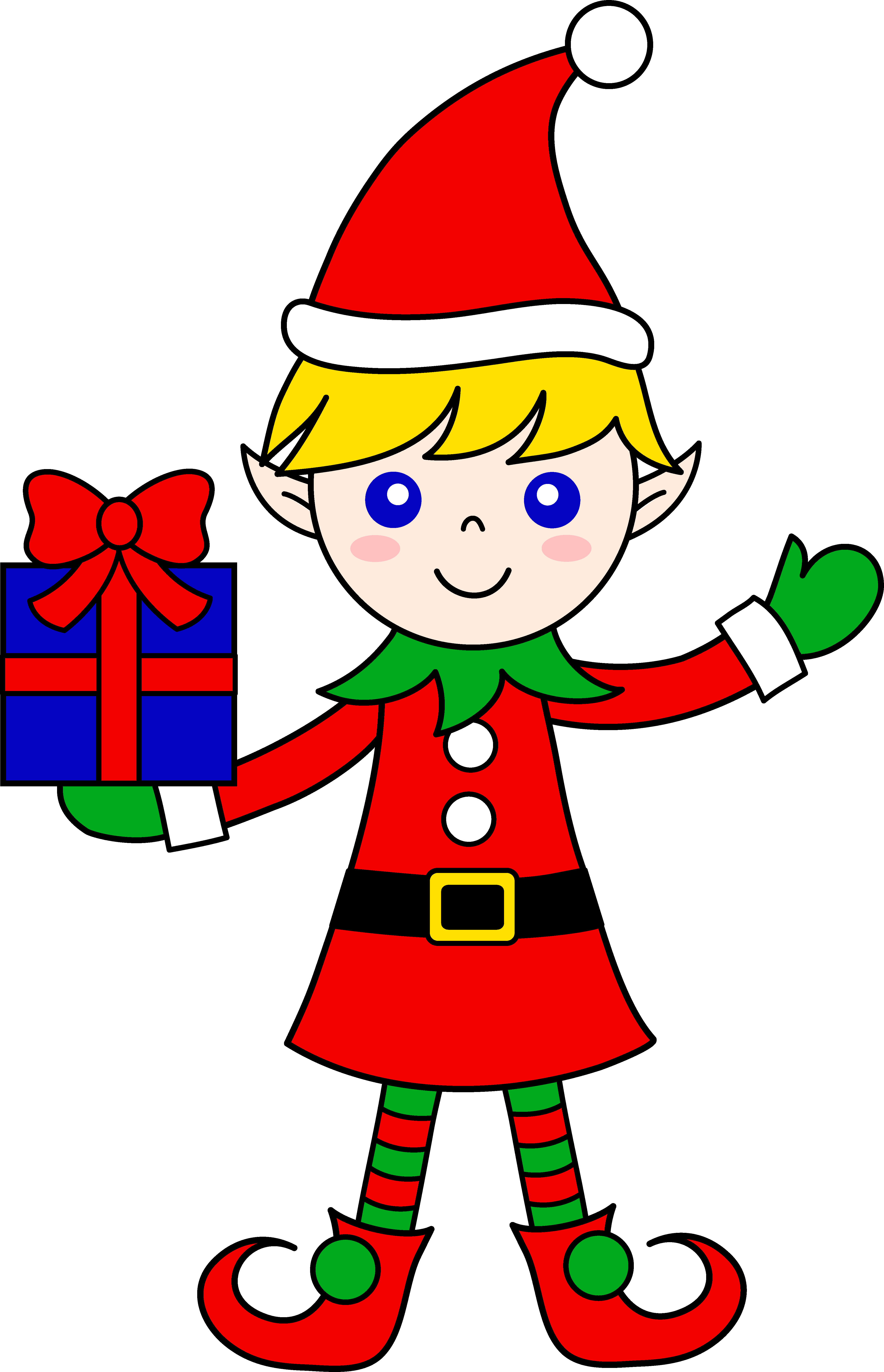 Christmas elf clipart black and white png transparent library 28+ Collection of Santa And Elf Clipart | High quality, free ... png transparent library