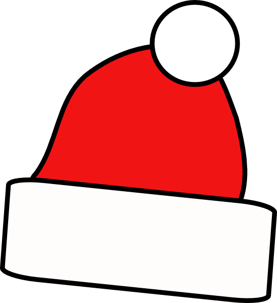Christmas hats clipart clip black and white Christmas Hat Clipart at GetDrawings.com | Free for personal use ... clip black and white