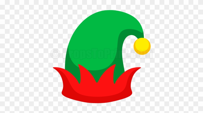 Christmas elf hat clipart black and white