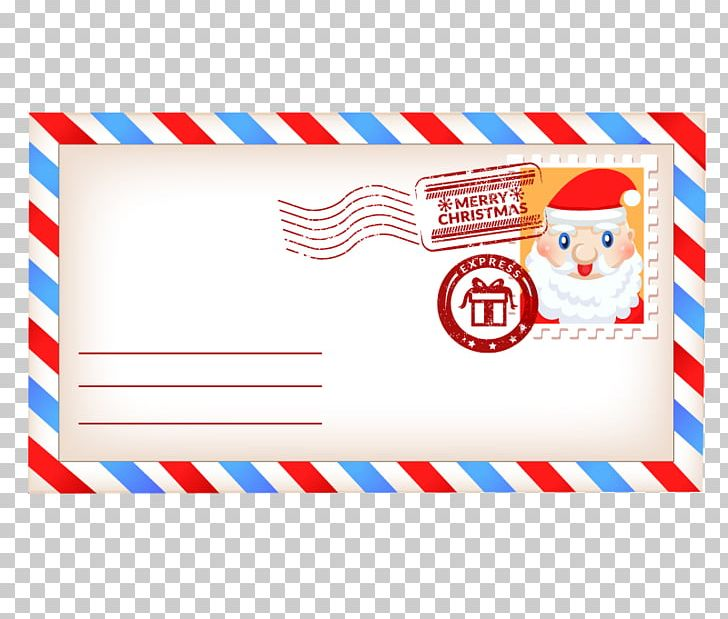 Christmas envelope clipart freeuse library Santa Claus Paper Christmas Envelope PNG, Clipart, Blue, Border ... freeuse library