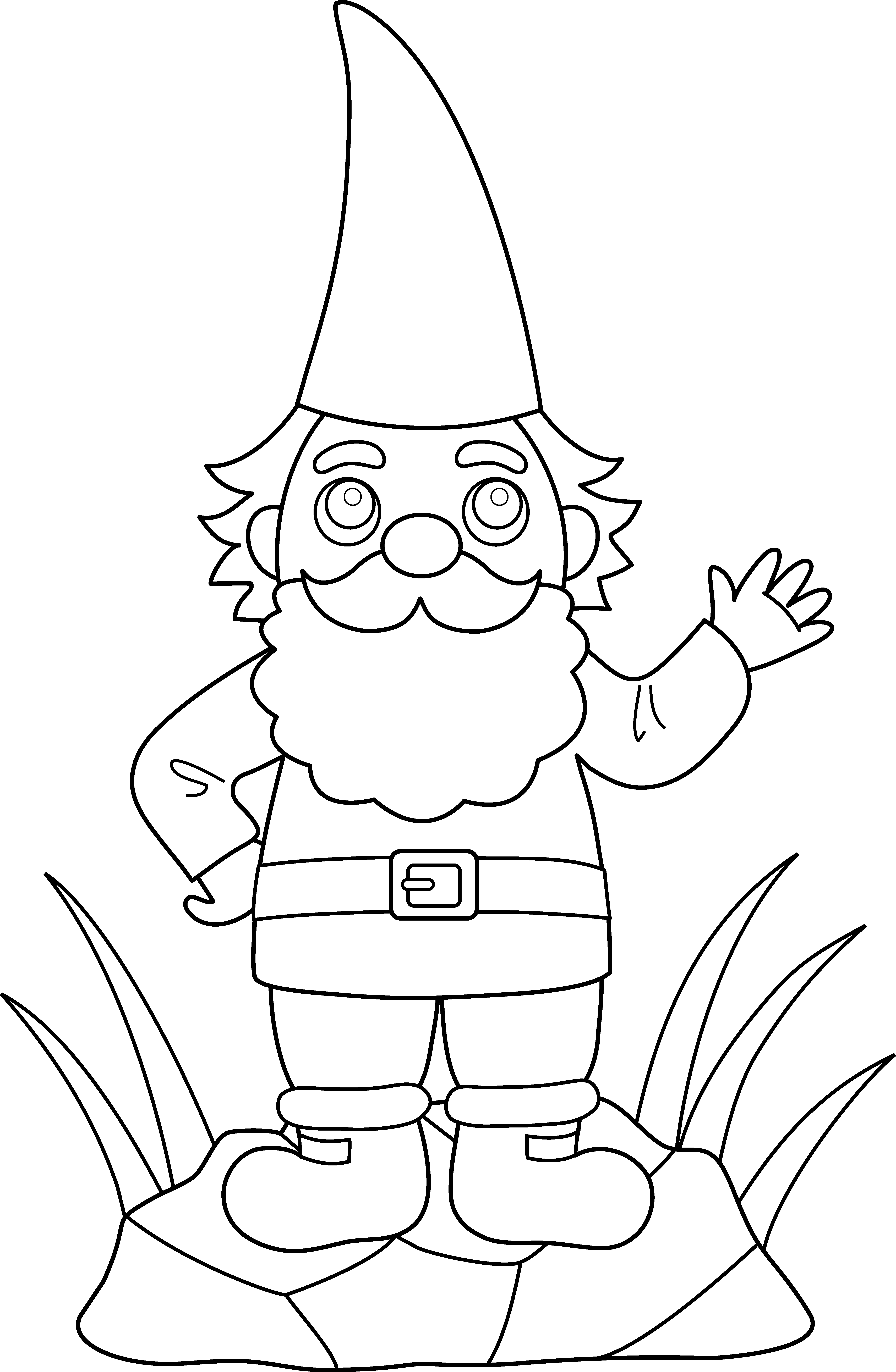 Christmas eve clipart black and white svg Garden gnome clipart black and white svg