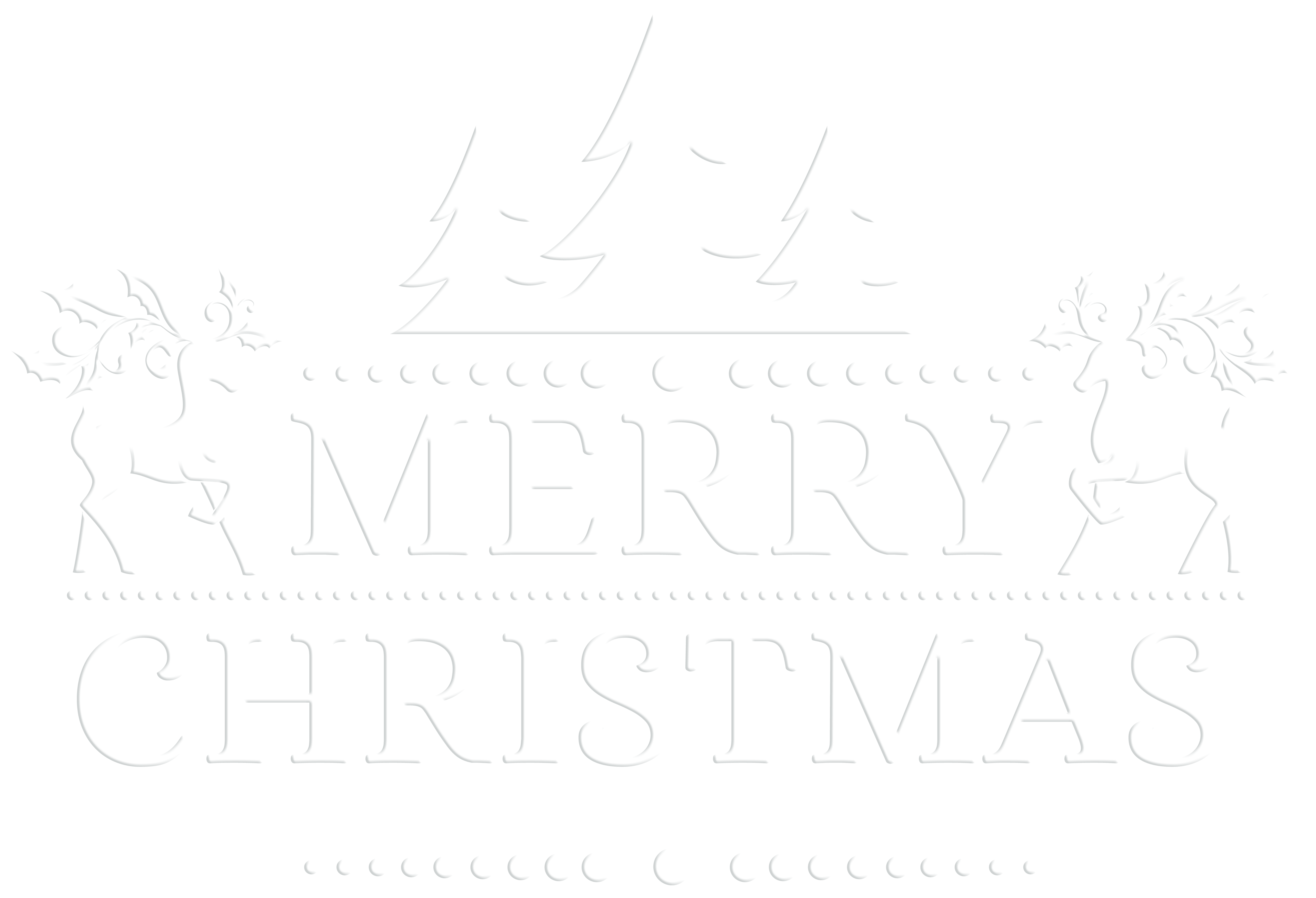 Merry christmas clipart black and white clip art library download Merry Christmas White Transparent PNG Clip Art | Gallery ... clip art library download