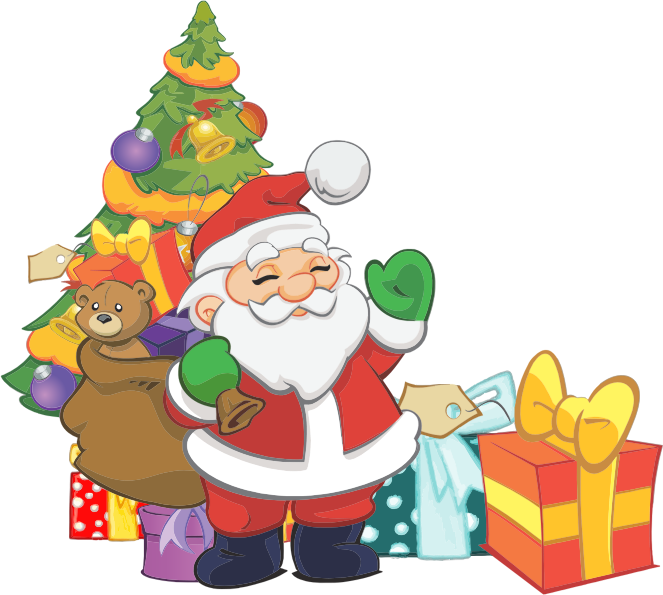Christmas eve clipart clip black and white library Christmas eve santa claus clip art clipart free download - Clipartix clip black and white library