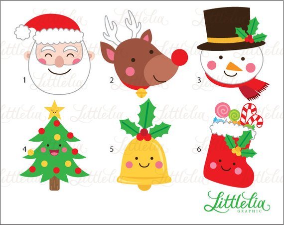 Christmas face painting clipart clip art black and white download Christmas faces clipart - Christmas santa clipart - 15072   Products ... clip art black and white download