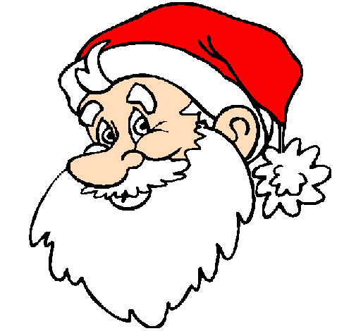 Christmas face painting clipart vector freeuse Colored page Father Christmas face painted by father vector freeuse