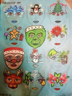 Christmas face painting clipart clip download 191 Best Face Painting: Christmas images in 2019   Christmas face ... clip download