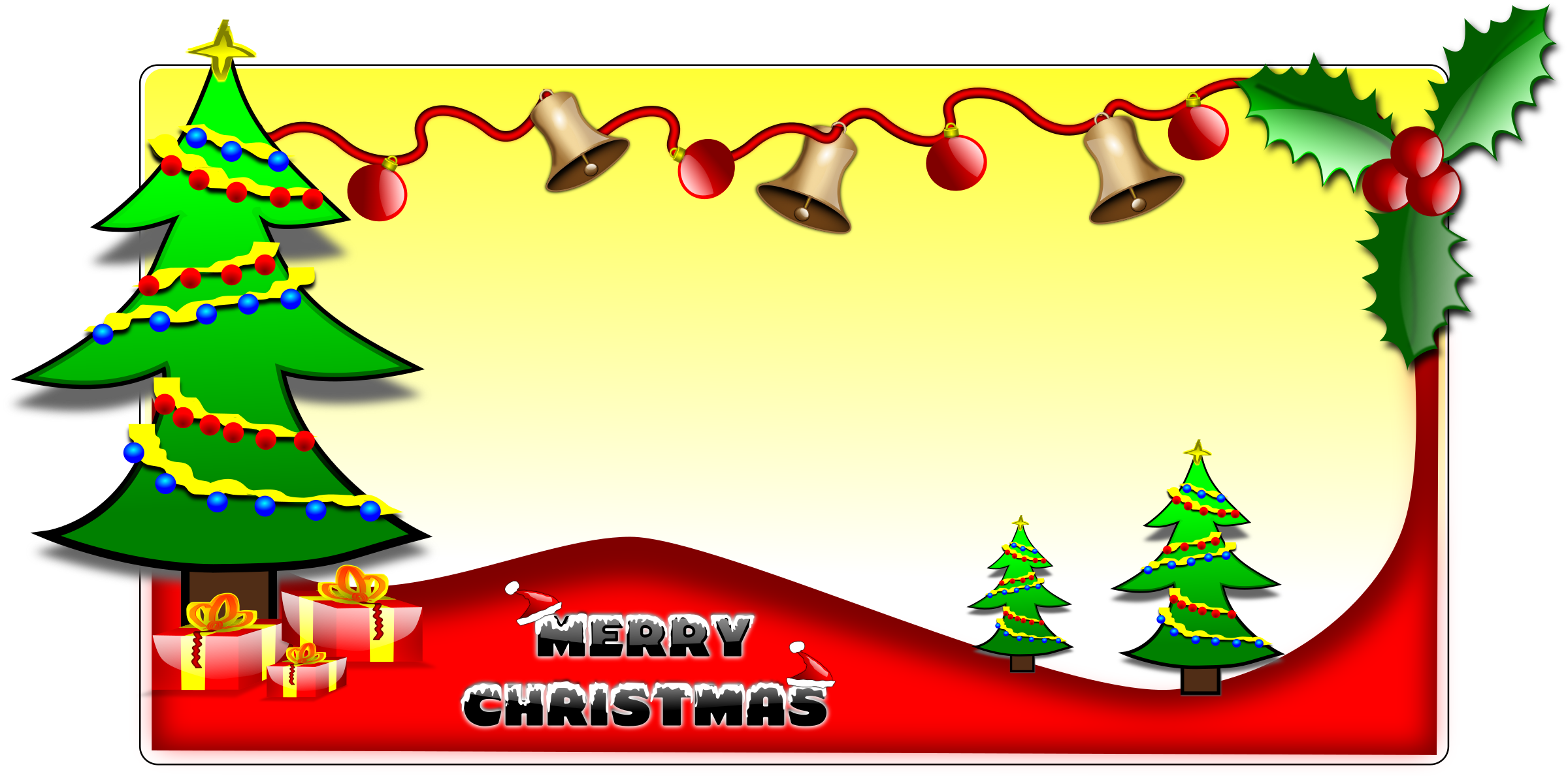 Christmas tree banner clipart graphic transparent stock Clipart - Christmas L1 graphic transparent stock