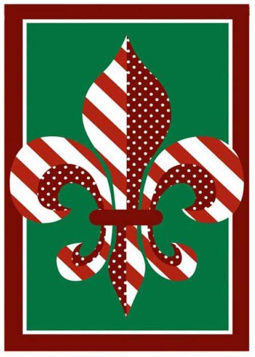 Christmas fleur de lis clipart vector library Fleur de Lis for the Holidays House Flag vector library