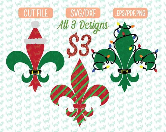 Christmas fleur de lis clipart jpg library stock Pin by FidgetyFoxDesigns on Cutting Files   Christmas svg, Cricut ... jpg library stock