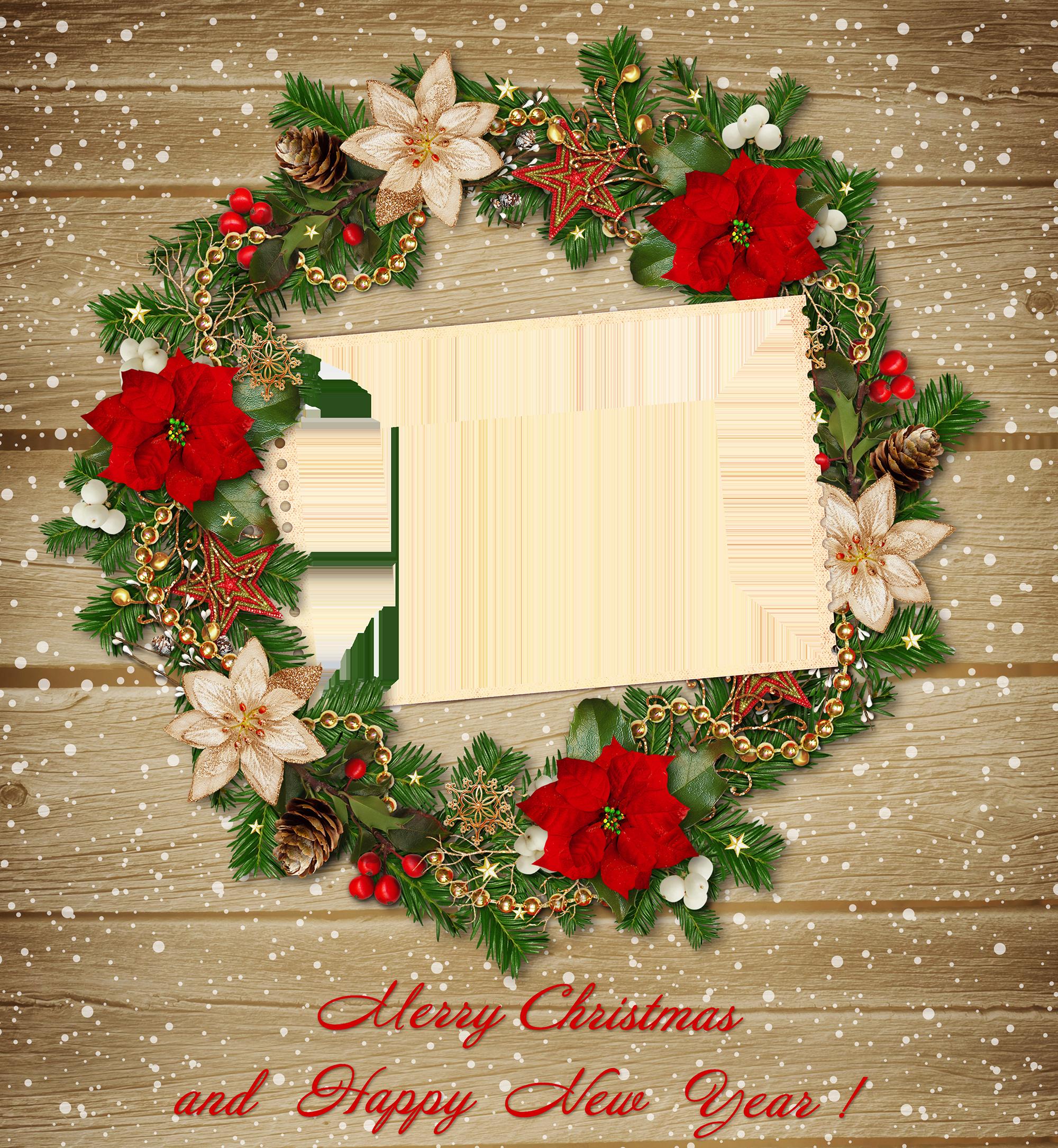 Vintage christmas wreath clipart vector transparent Christmas Transparent Vintage PNG Frame | Gallery Yopriceville ... vector transparent