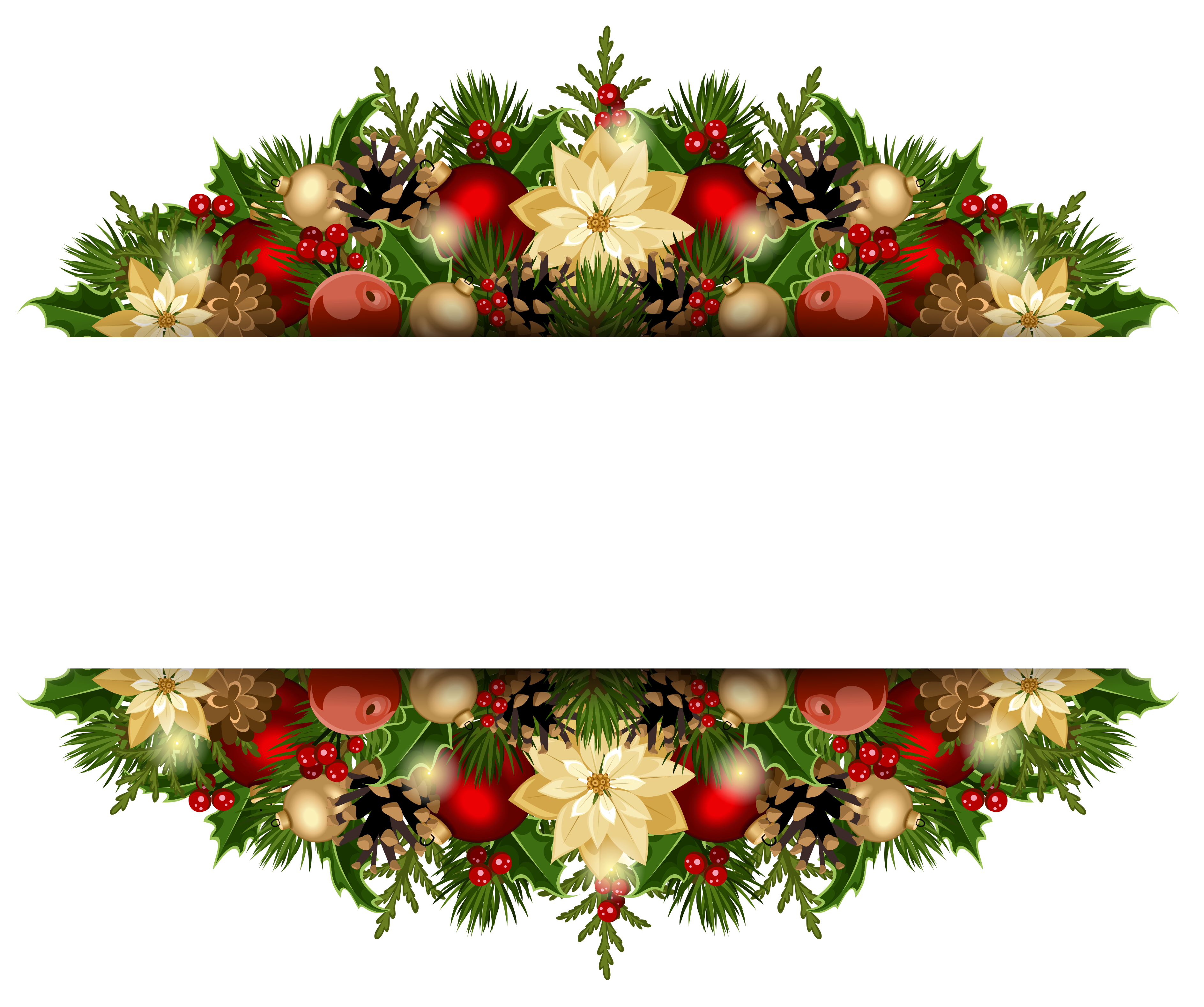 Christmas flower border clipart clip freeuse stock Christmas Deco PNG Clipart Picture | Gallery Yopriceville - High ... clip freeuse stock