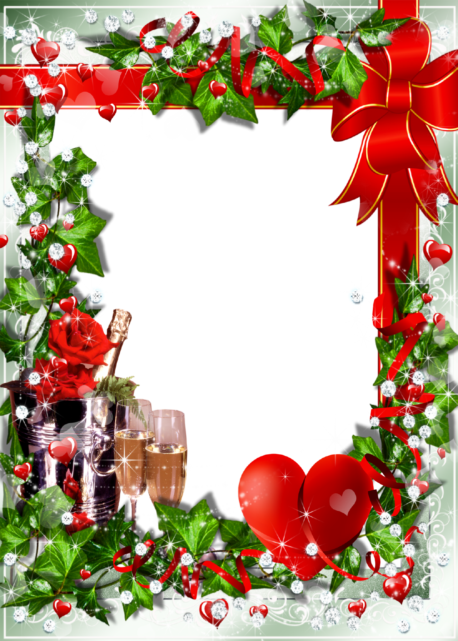 Christmas wallpaper clipart clip art transparent library christmas transparent png borders and frames | Romantic Photo Frame ... clip art transparent library