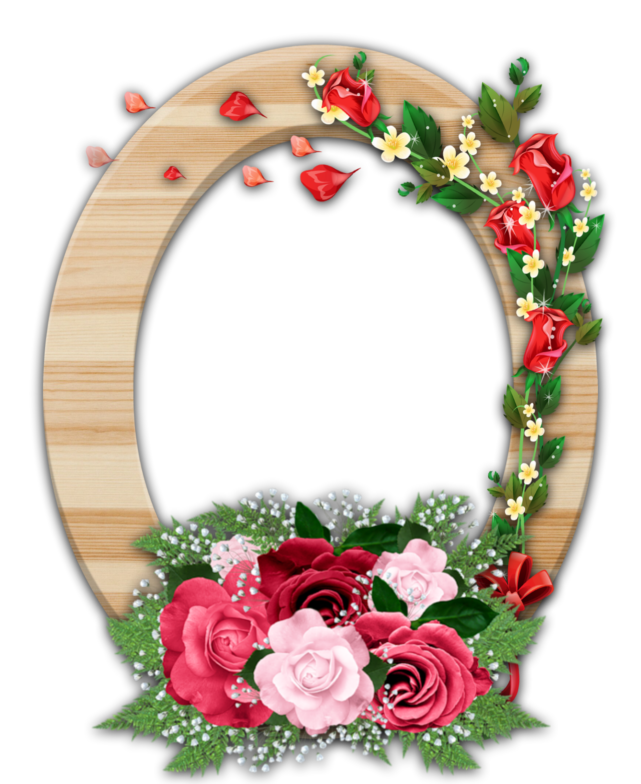 Flower frames clipart svg black and white stock Wooden and Flower Frame border by Gautam by GautamDas1992 on DeviantArt svg black and white stock