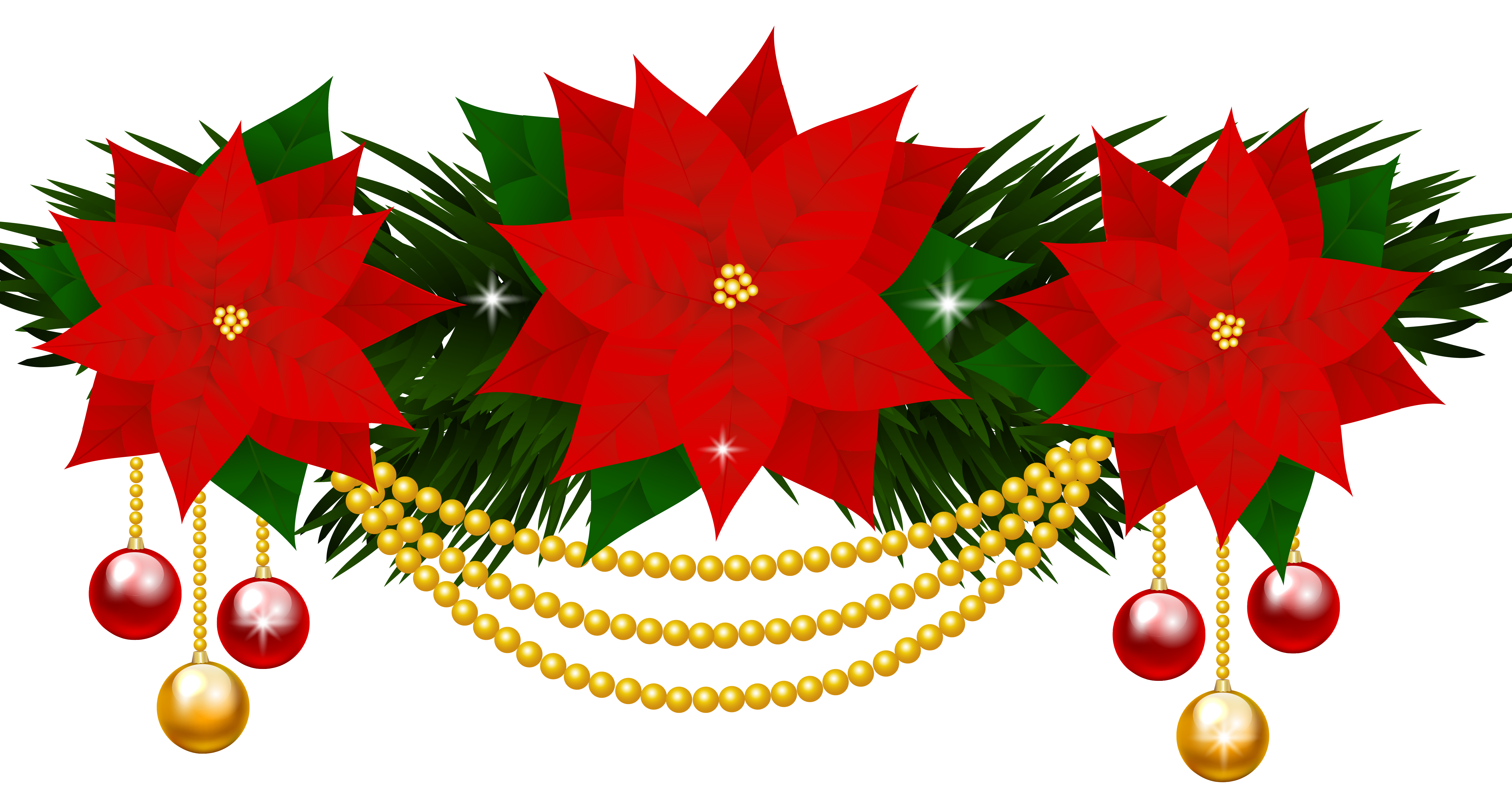 Christmas flower clipart image freeuse stock Poinsettias Decoration PNG Clipart Image | Gallery Yopriceville ... image freeuse stock