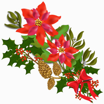Christmas flowers free clipart vector black and white download Christmas flowers free clipart - ClipartFest vector black and white download