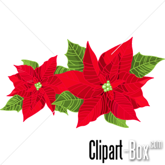 Christmas flowers free clipart. Clipartfest red