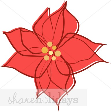 Christmas flowers free clipart library Free clipart christmas flower - ClipartFest library