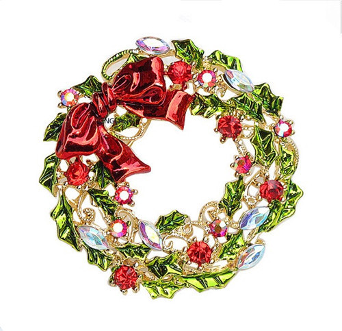 Christmas flowers pictures free jpg library stock Free Ship Rhinestone Christmas Flower Hoop Brooches Girls Charm ... jpg library stock