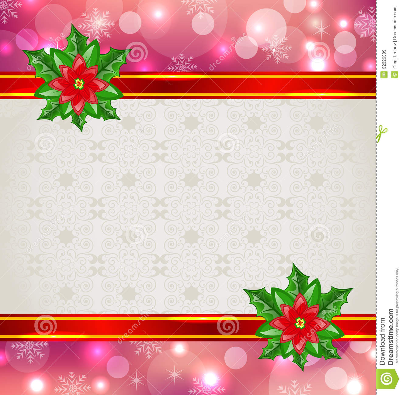 Christmas flowers pictures free svg library download Christmas Elegant Card With Flower Poinsettia Royalty Free Stock ... svg library download