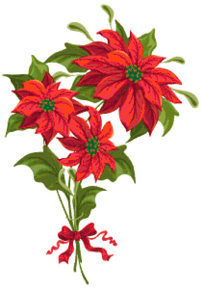 Christmas flowers pictures free free download Christmas flowers. Free cross stitch pattern   Better Cross Stitch free download