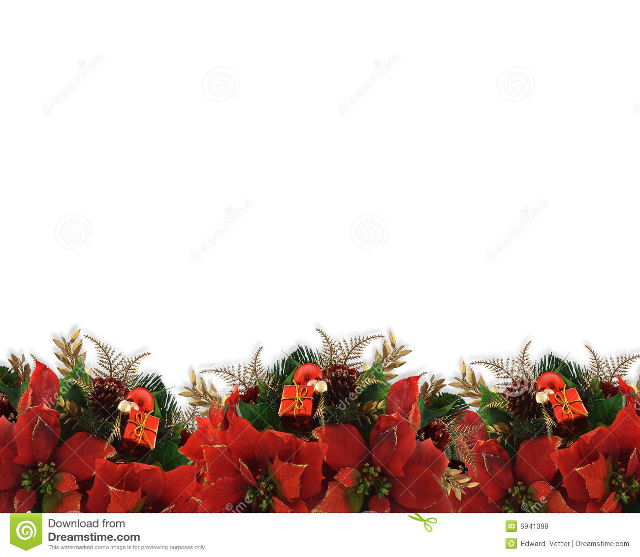 Christmas flowers pictures free svg free stock Christmas Flowers Border Poinsettias Royalty Free Stock Photos ... svg free stock