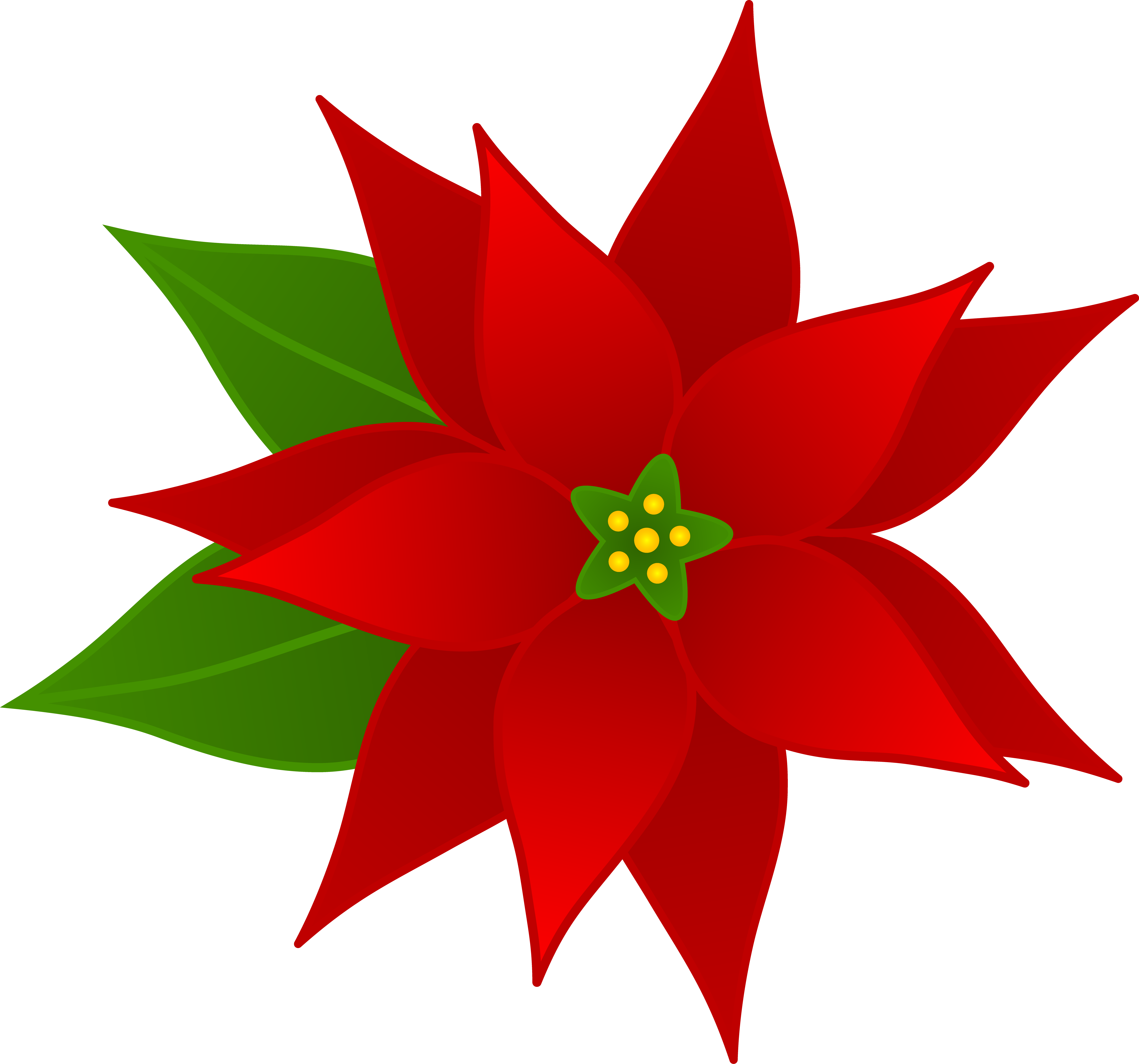 Christmas flowers pictures free clipart transparent library Christmas flowers free clipart - ClipartFest clipart transparent library