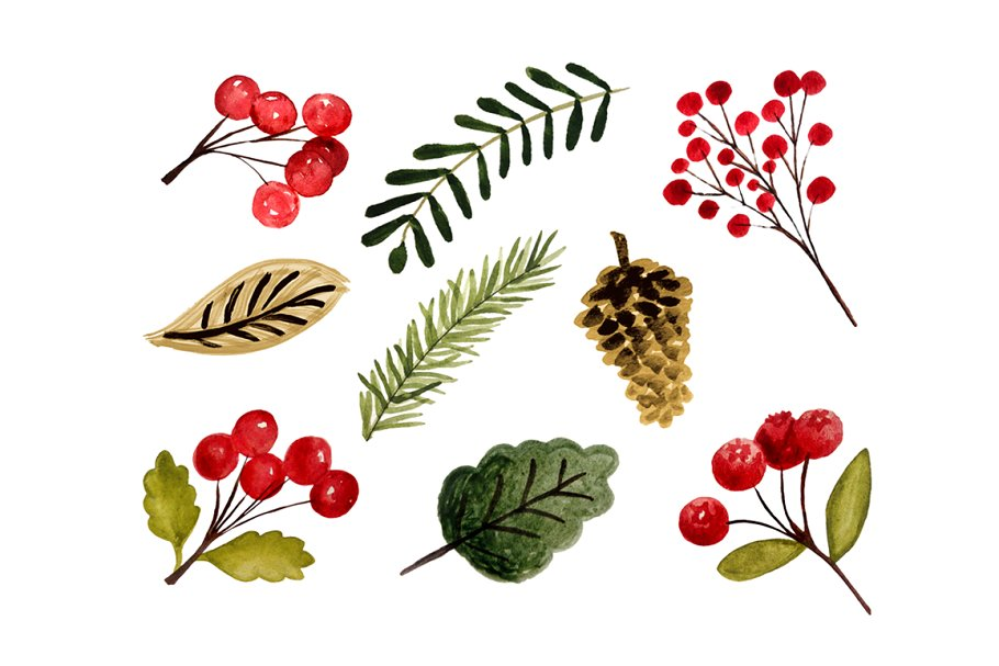 Christmas foliage clipart picture library Christmas foliage picture library