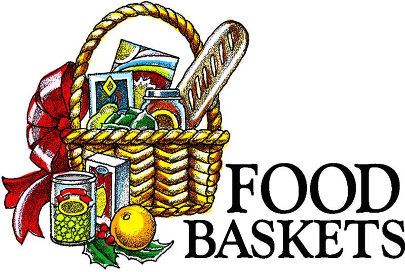 Christmas food baskets clipart