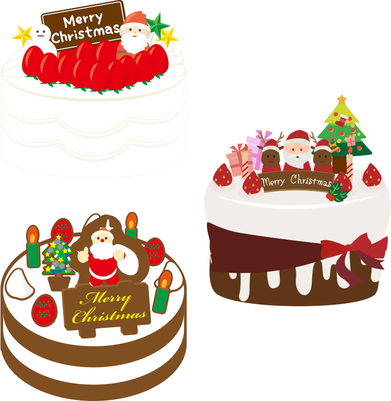 Christmas food clipart vector black and white stock Clipart - Japanese Christmas Cake (#2) vector black and white stock