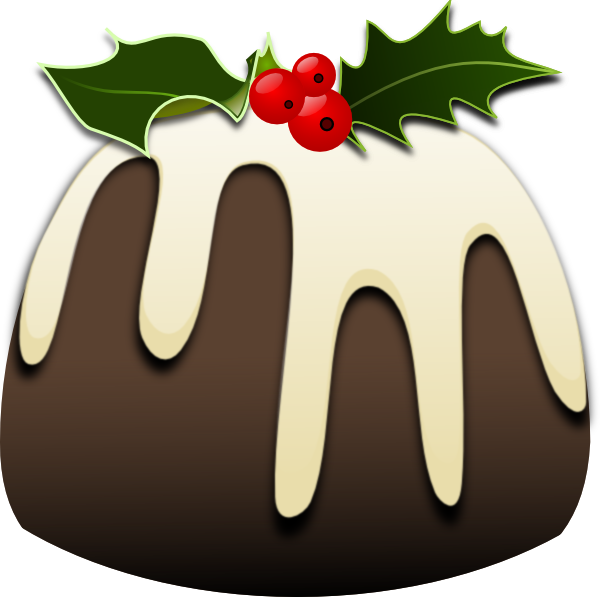 Christmas food clipart svg black and white download Christmas Pudding Clip Art at Clker.com - vector clip art online ... svg black and white download