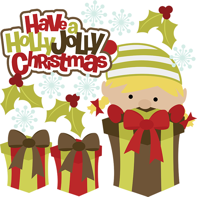 Cute merry christmas clipart black and white stock Have A Holly Jolly Christmas SVG christmas clipart cute clip art ... black and white stock