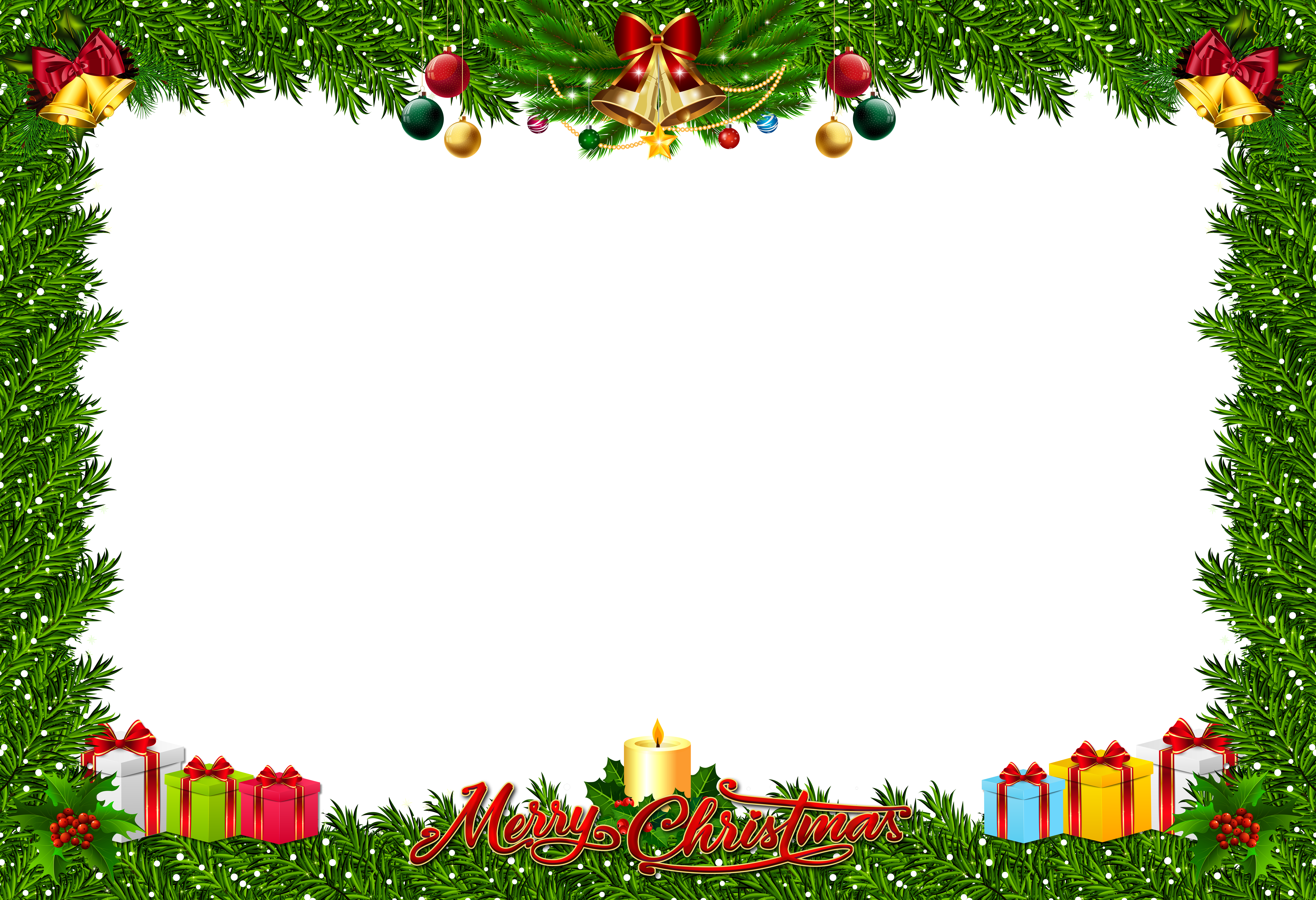 Christmas frame clipart png free stock Christmas Frame Transparent PNG Clip Art | Gallery Yopriceville ... png free stock