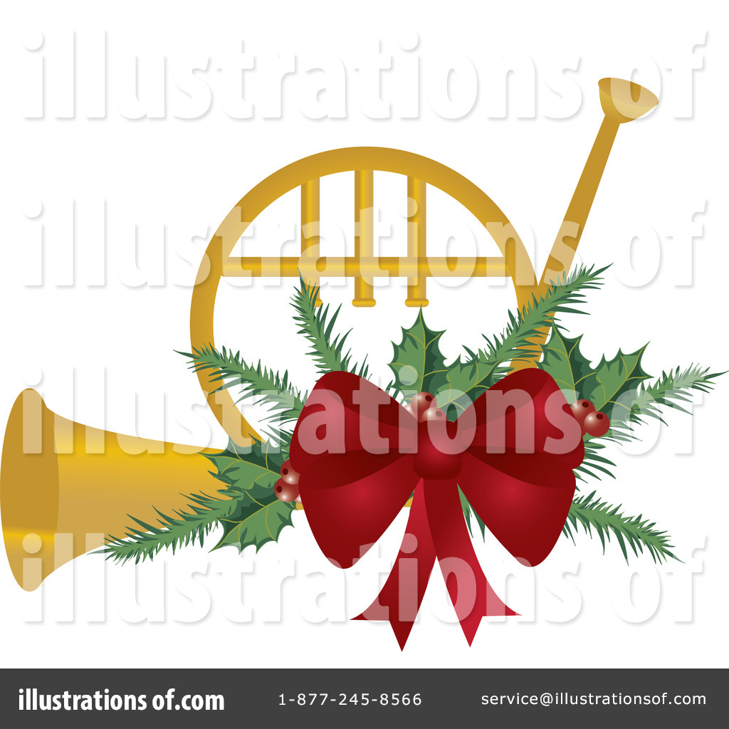 Christmas french horn clipart graphic freeuse stock French Horn Clipart #436263 - Illustration by Pams Clipart graphic freeuse stock