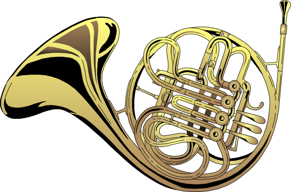 Christmas french horn clipart png library Free How To Draw A French Horn, Download Free Clip Art, Free Clip ... png library