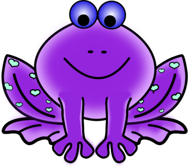Christmas frog clipart jpg black and white stock 28+ Collection of Purple Frog Clipart | High quality, free cliparts ... jpg black and white stock