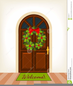 Christmas front door clipart svg black and white stock Christmas Front Door Clipart | Free Images at Clker.com - vector ... svg black and white stock