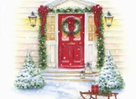 Christmas front door clipart clip art free download 44 Holiday Door Decorating Clip Art, Holiday Garland Clip Art ... clip art free download