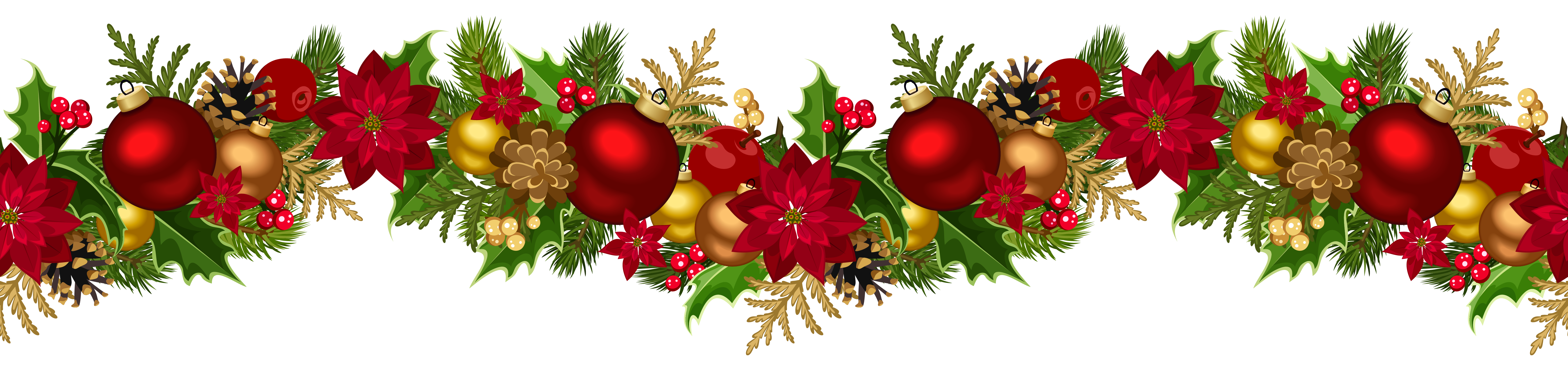 Free clipart christmas garland svg free library Christmas Decorative Garland PNG Clip Art Image | Christmas clipart ... svg free library