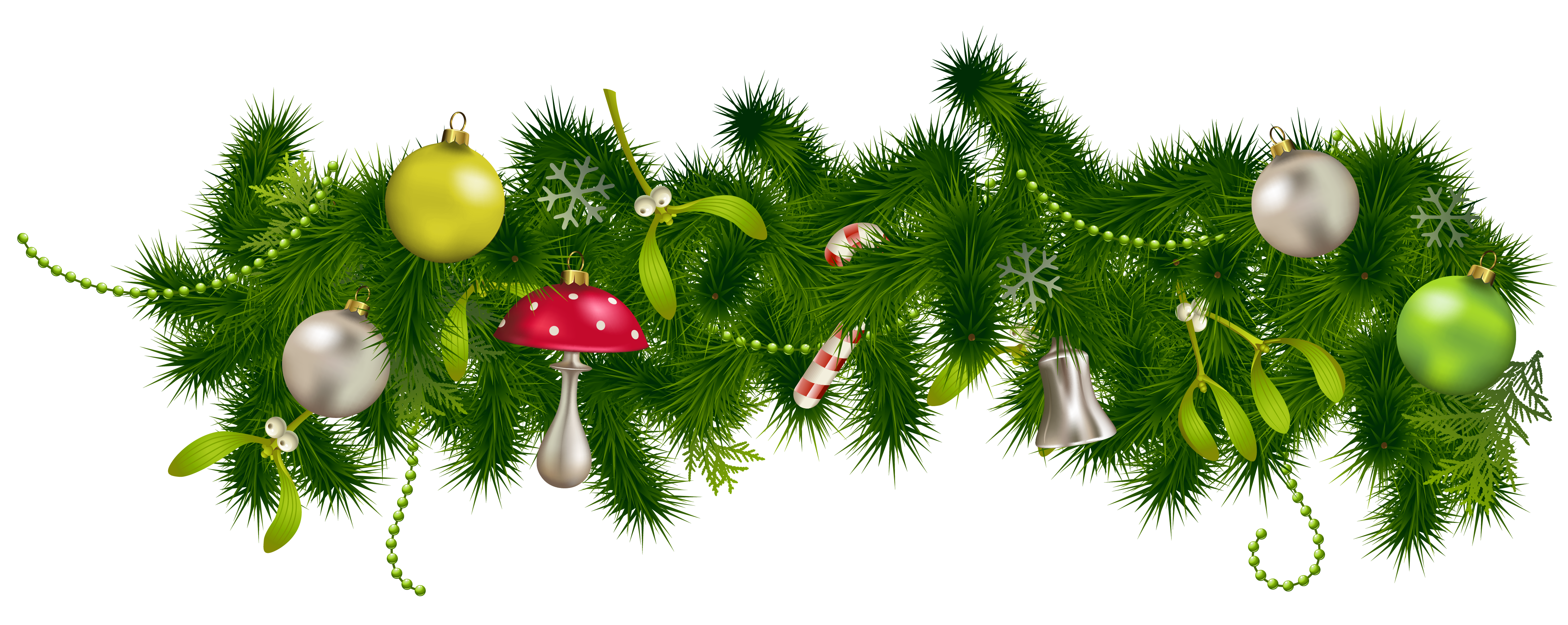 Free christmas garland clipart png library download Transparent Christmas Pine Garland Decor PNG Clipart | Gallery ... png library download