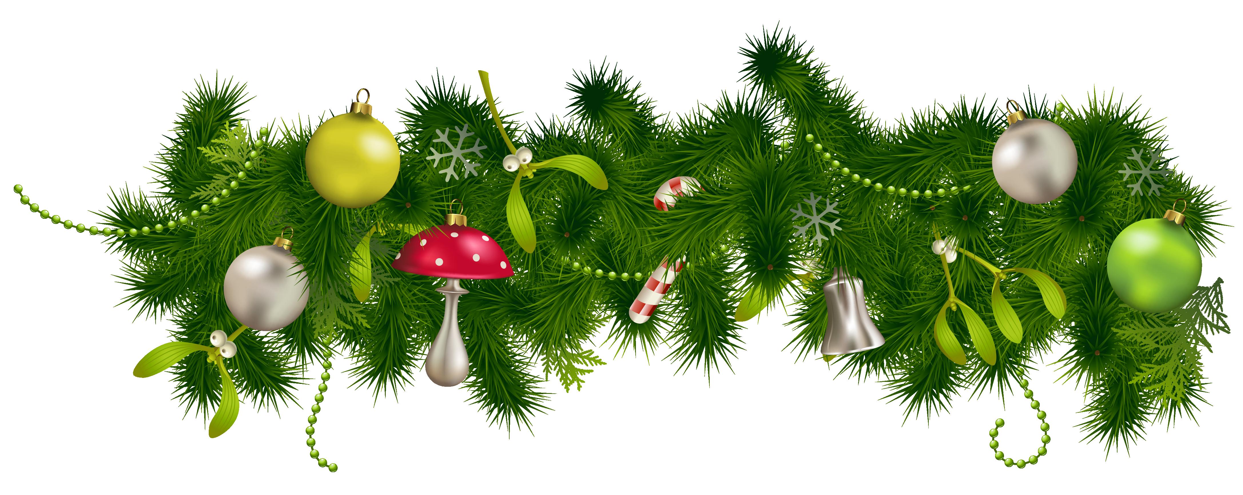 Christmas garland clipart transparent stock Transparent Christmas Pine Garland Decor PNG Clipart | Gallery ... transparent stock