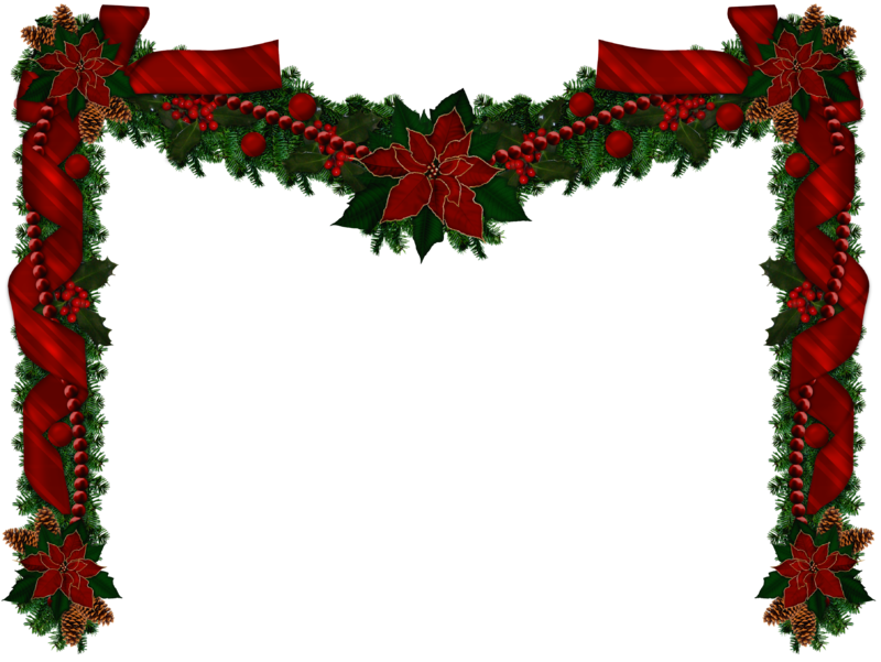 Christmas wreath clipart png picture black and white stock Christmas Garland Png Christmas Transparent - 5735 - TransparentPNG picture black and white stock