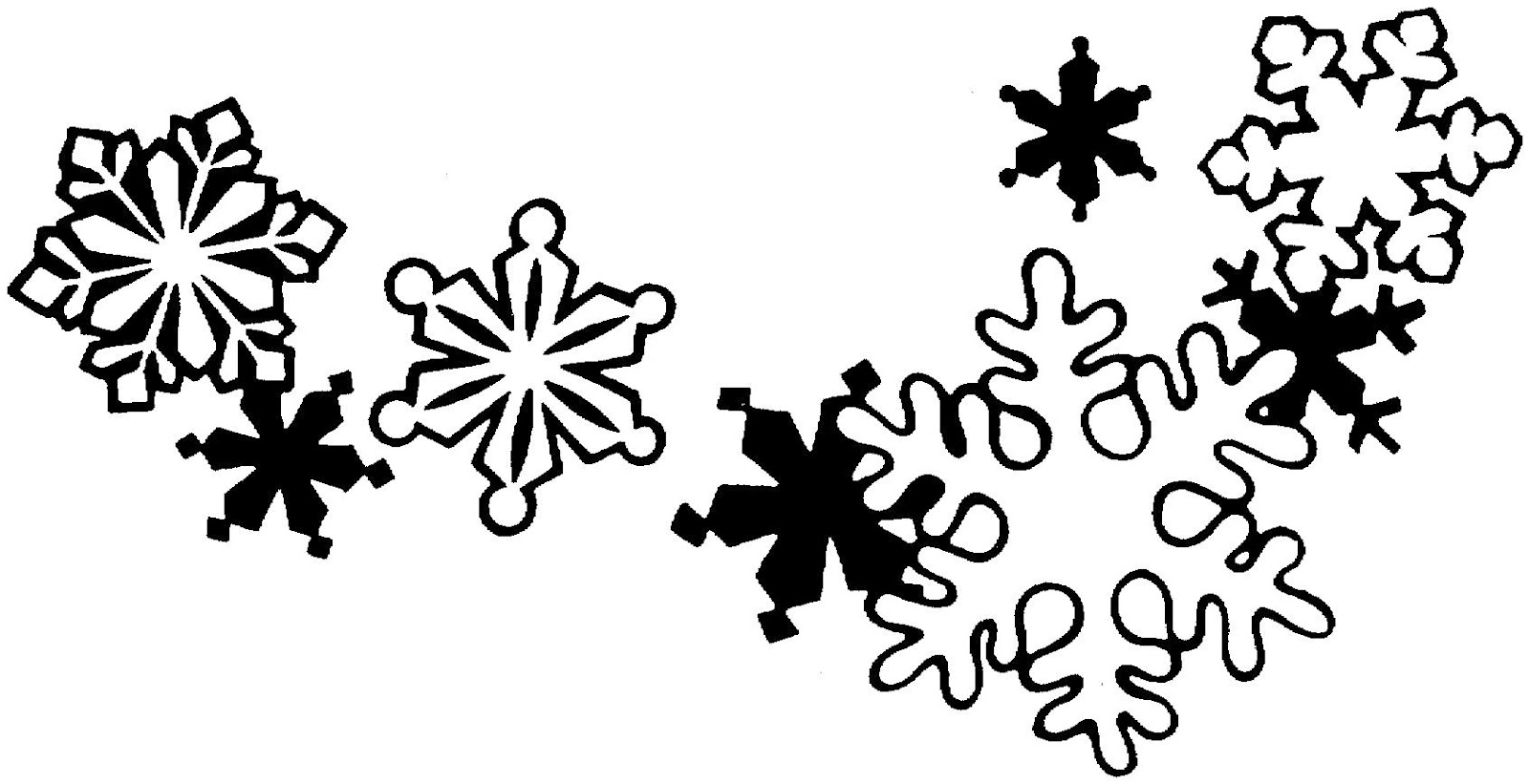 Winter holiday clipart black and white free graphic freeuse download Free Christmas Garland Clipart Black And White, Download Free Clip ... graphic freeuse download