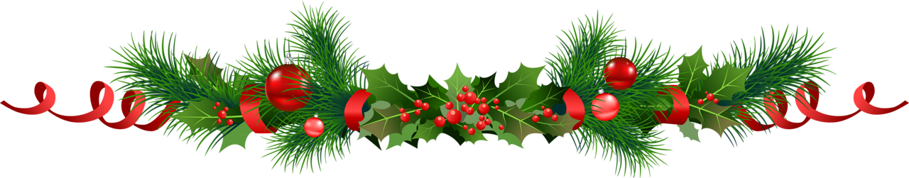 Free clipart christmas garland