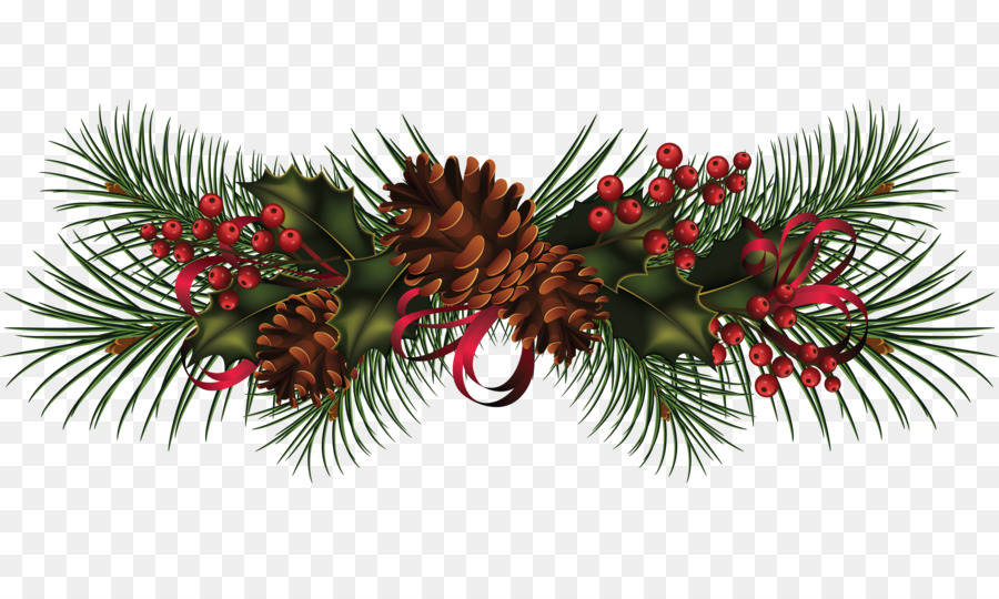 Christmas garland photo clipart svg library Christmas Poinsettia Clipart png download - 3900*2274 - Free ... svg library